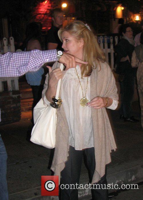 Kathy Hilton leaving The Ivy restaurant
