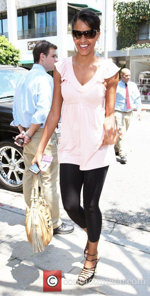 Claudia Jordan arrives at the Ivy Restaurant on...