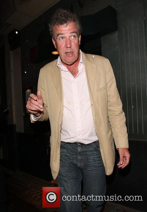 Jeremy Clarkson leaving The Ivy London, England