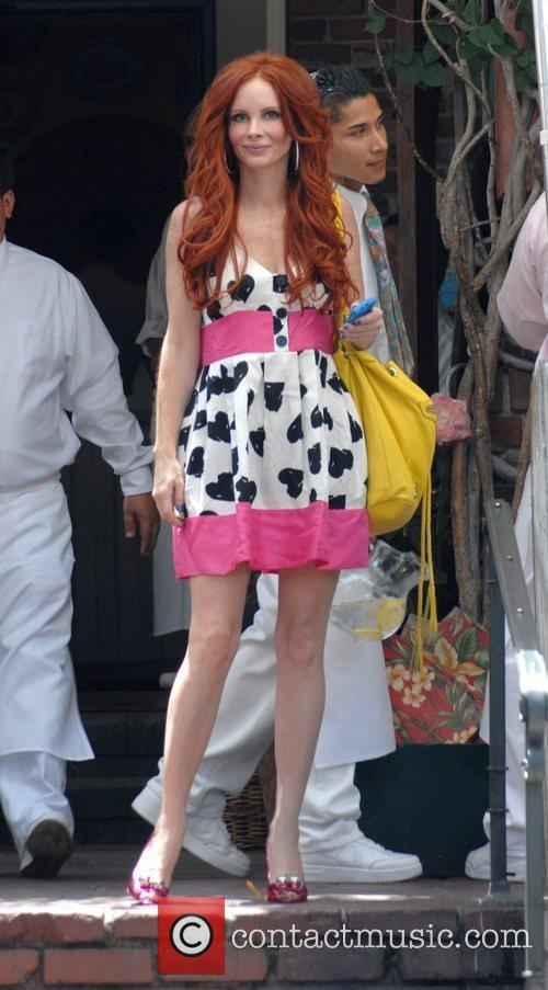 Phoebe Price outside the Ivy Restaurant in West...