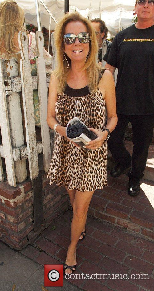 Cathy Griffen leaves the Ivy Restaurant on Robertson...
