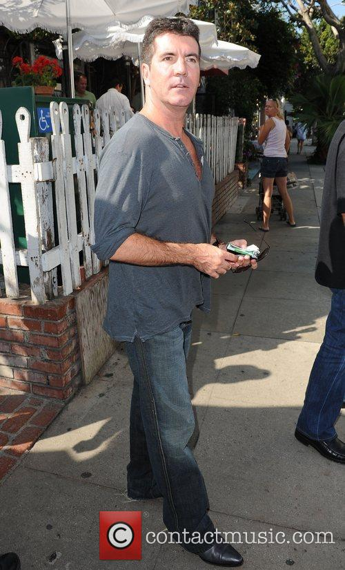 Simon Cowell outside the Ivy restaurant on Robertson...