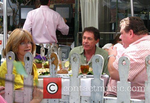 Susan Olsen and Barry Williams outside the Ivy...