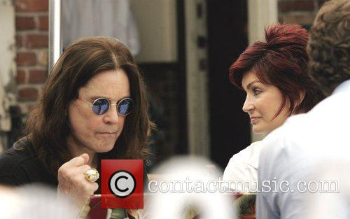 Ozzy Osbourne and Sharon Osbourne have lunch at...