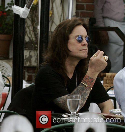 Ozzy Osbourne having lunch at The Ivy restaurant...