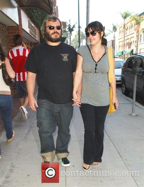 Jack Black and Pregnant Wife Tanya Haden 3