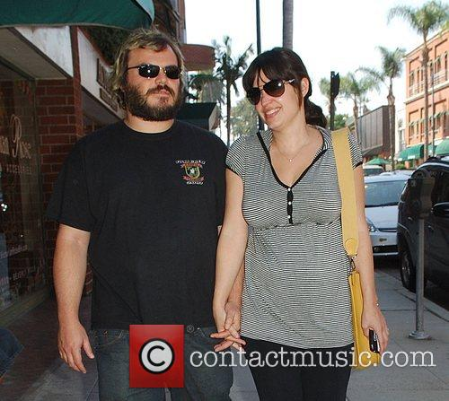 Jack Black and Pregnant Wife Tanya Haden 1