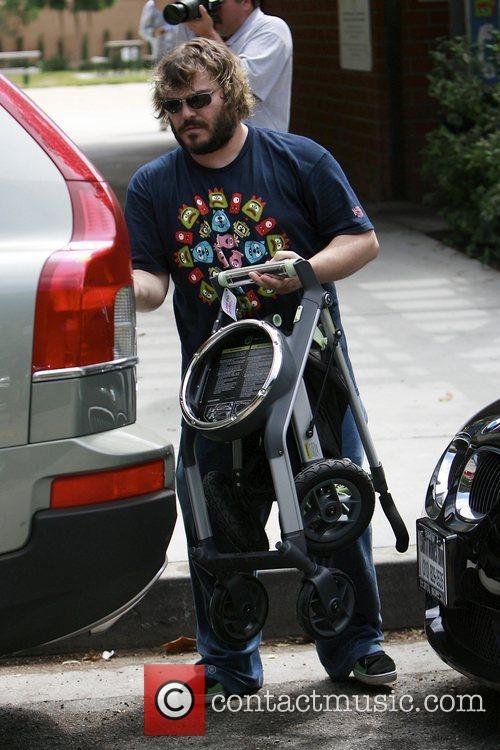 Jack Black leaving a park in Beverly Hills...