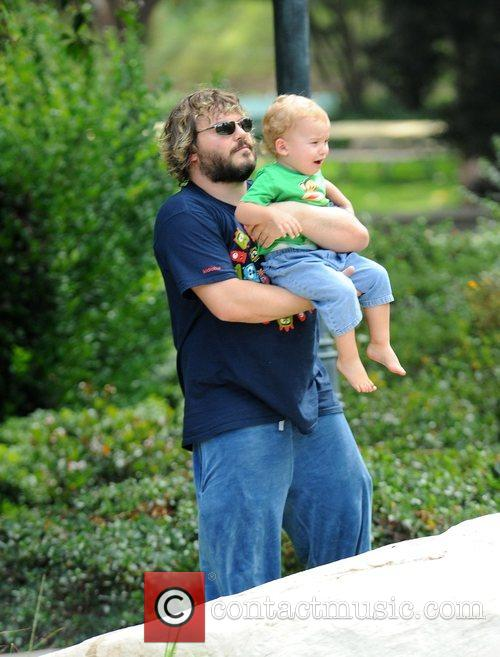 Jack Black spending quality time with his family...