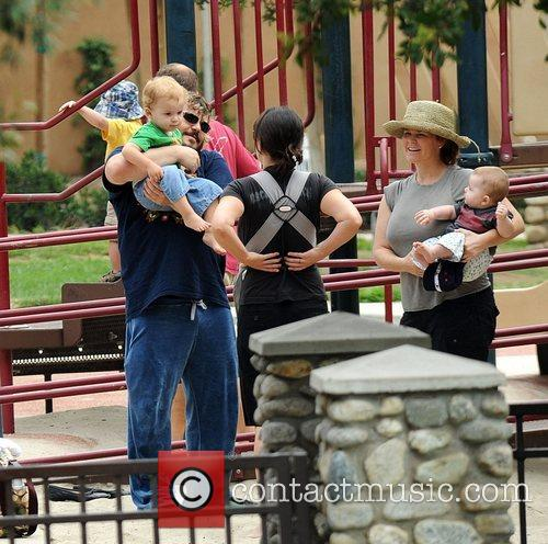 Jack Black and his wife Tanya Hayden spending...
