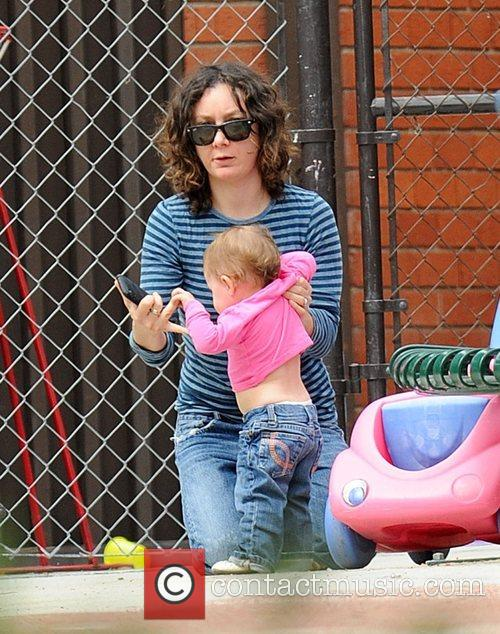 Sara Gilbert and her daughter spending quality time...