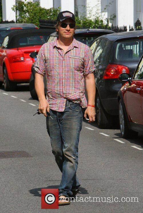 Jamie Oliver leaving his home in Primrose Hill...