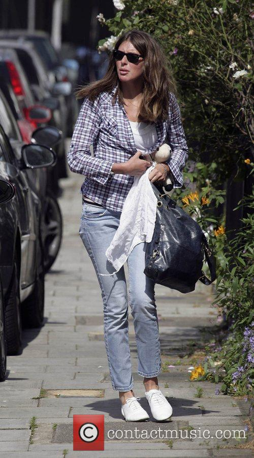 Leaving her home in Primrose Hill