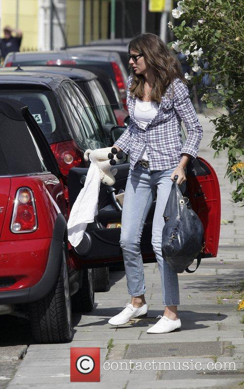 Jools Oliver leaving her home in Primrose Hill...