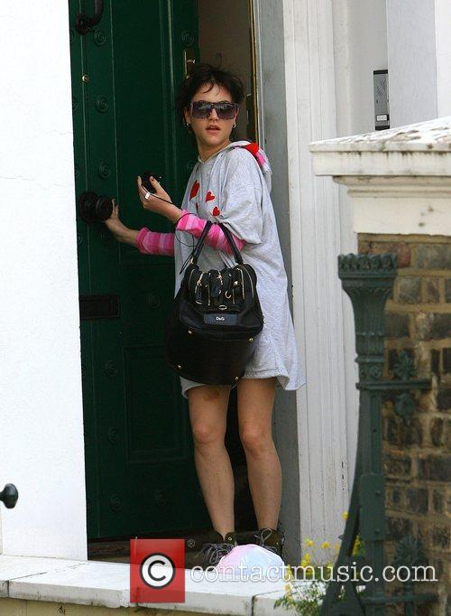 Leaving boyfriends Alfie Allen's house this morning with...