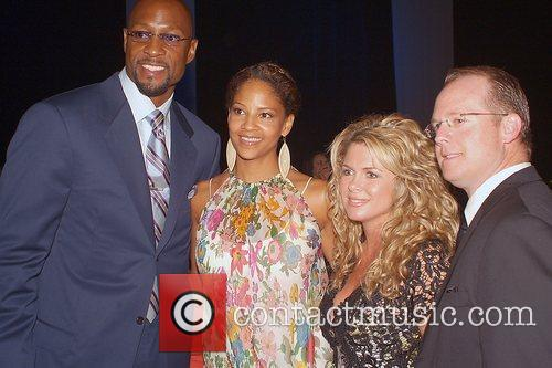 Alonzo Mourning, His Wife and Tracy Mourning