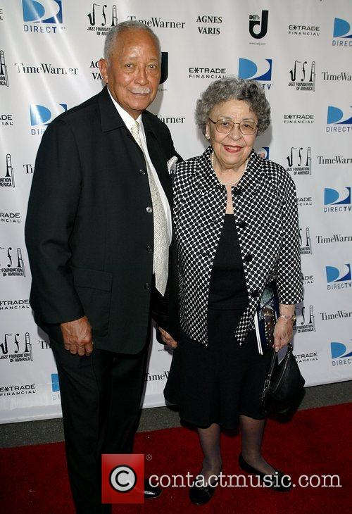 Former mayor David Dinkins and his wife at...