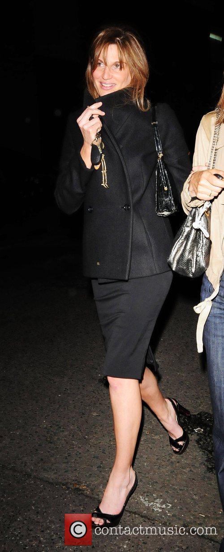 Jemima Khan seen leaving Locanda Locatelli Restaurant with...