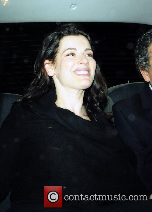 Nigella Lawson seen leaving Locanda Locatelli Restaurant in...
