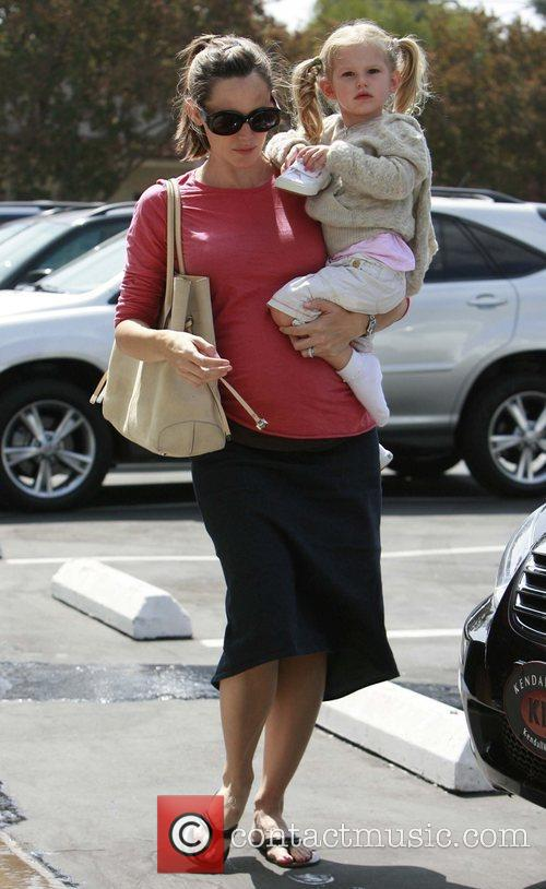 Jennifer Garner showing off her baby bump while...