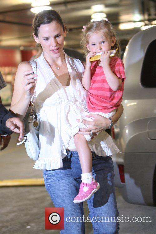 Jennifer Garner leaving a car park in Brentwood...