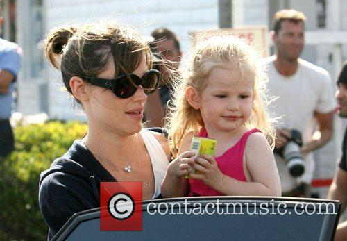 Jennifer Garner shopping for food in Brentwood with...