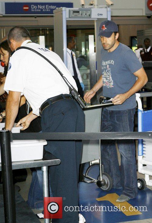Ben Affleck and Jennifer Garner arrive at LAX...