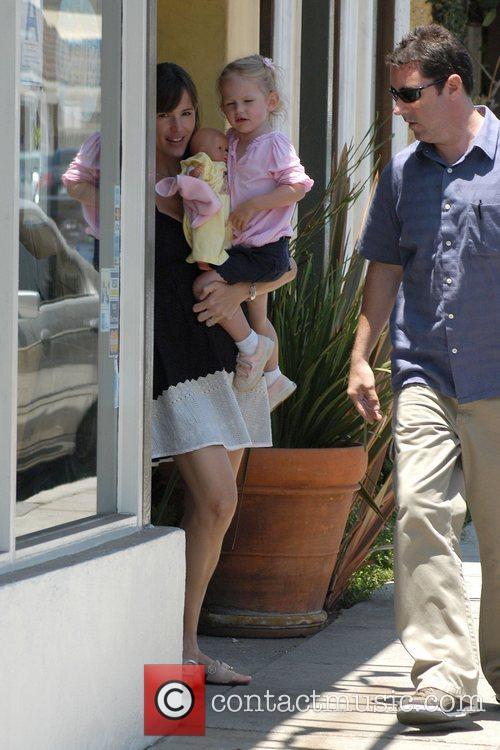 Jennifer Garner and her daughter Violet Affleck leaving...