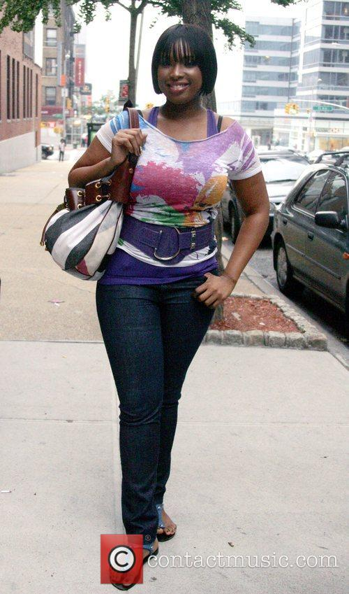 Jennifer Hudson  at BET'S '106 and Park'...