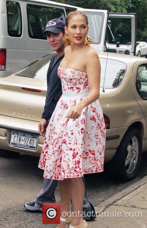 Jennifer Lopez on the set of a fashion...