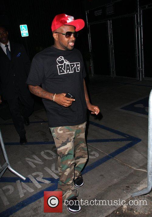 Jermaine Dupree leaving Foxtail Los Angeles, England
