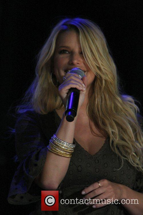 Jessica Simpson  at LP Field during the...
