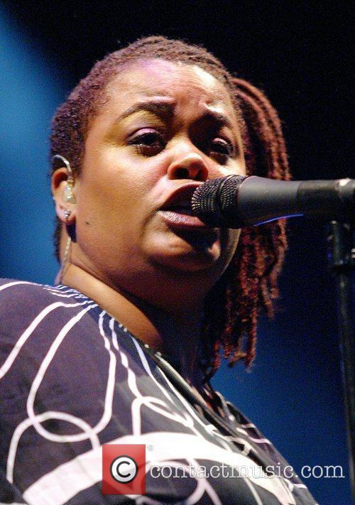 Jill Scott performs live at Wingate Field as...