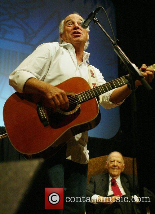 Jimmy Buffett performing at the Library of Congress...
