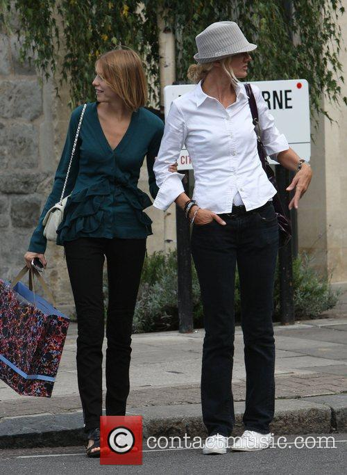 Joely Richardson out and about with a friend...