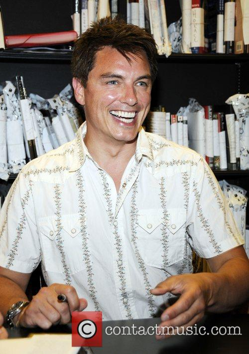 John Barrowman promotes his autobiography 'Anything Goes' at...