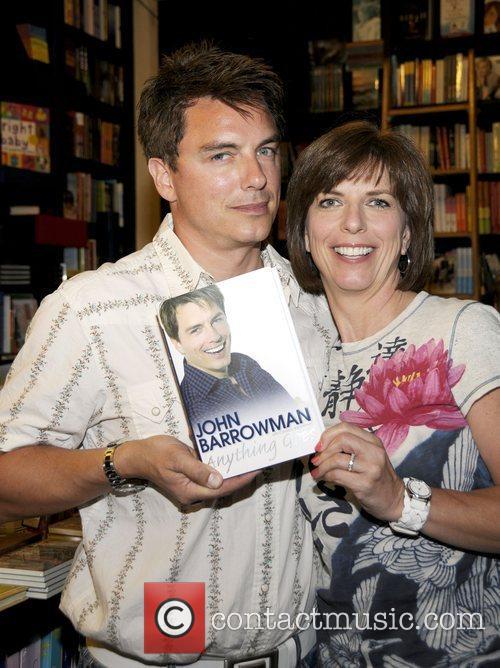 John Barrowman and co-author and sister Carole Barrowman...