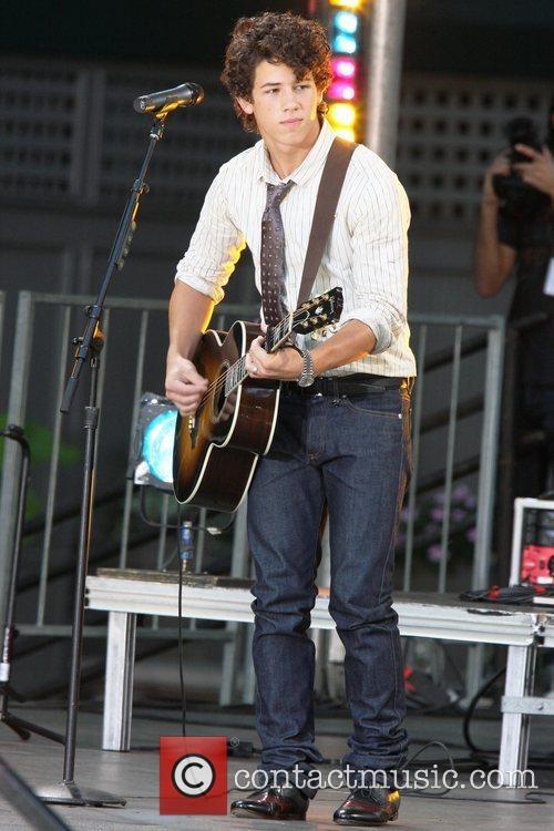 Nick Jonas The Jonas Brothers perform live for...