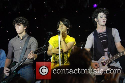 The Jonas Brothers in concert at the Ross...
