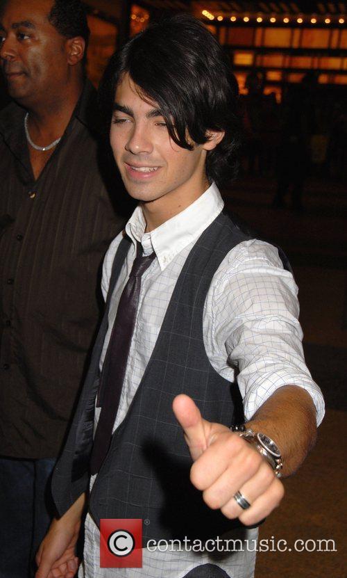 Joe Jonas Jonas Brothers outside MTV TRL Studios...