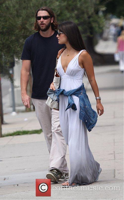 Jordana Brewster with her boyfriend taking a stroll...