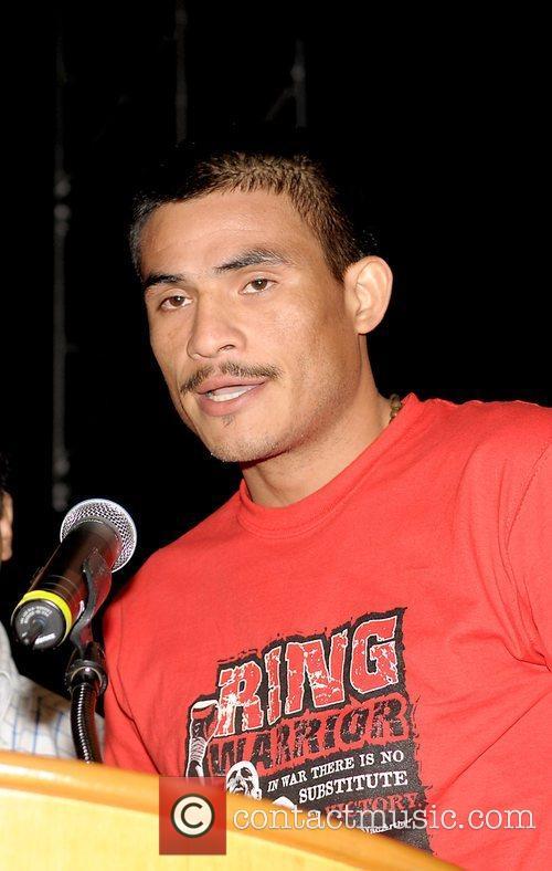 Jose Varela at a press conference at the...