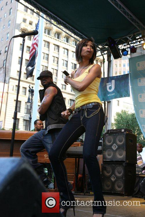 Performing at the J & R Musicfest at...