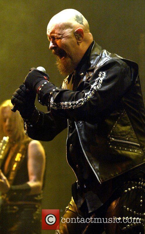 Judas Priest, (rear) K.K. Downing of Judas Priest, Acer Arena