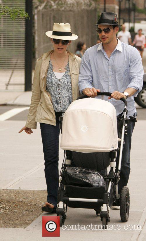 Takes a stroll with her husband Keith Lieberthal...