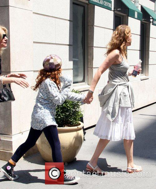 Sandra Bernhard and Her Daughter Cicely Yasin Bernhard Leaving The Kabbalah Centre 4