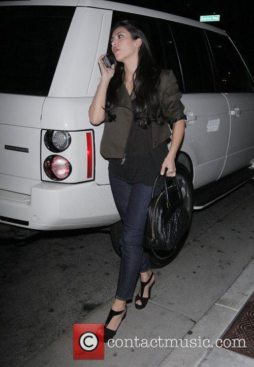 Kim Kardashian arrives at Maestro's Steakhouse for dinner...