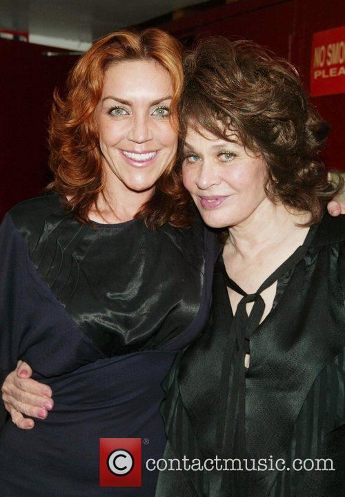 Audience member Andrea McArdle poses with writer and...