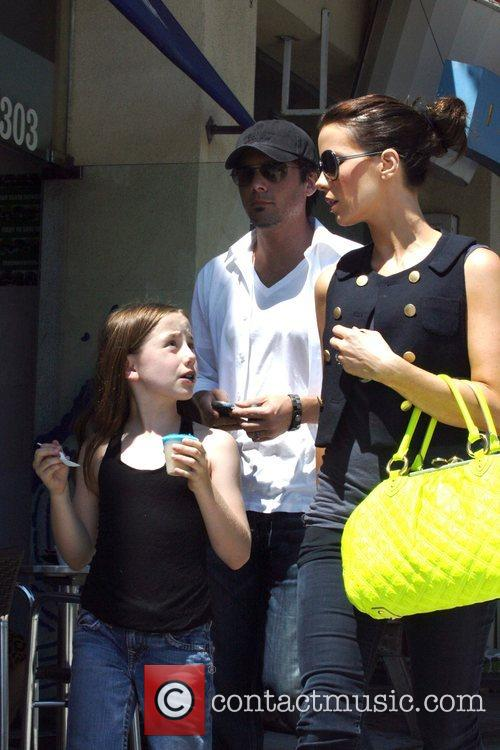 Kate Beckinsale out and about enjoying the sunshine...