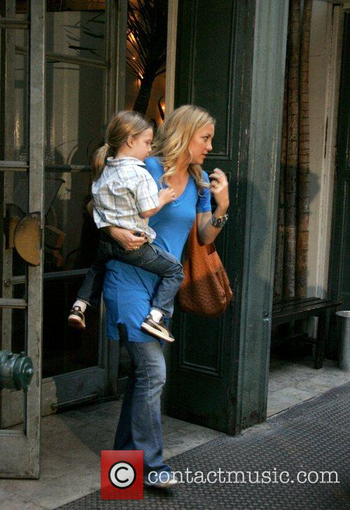 Kate Hudson and her son Ryder leaving a...